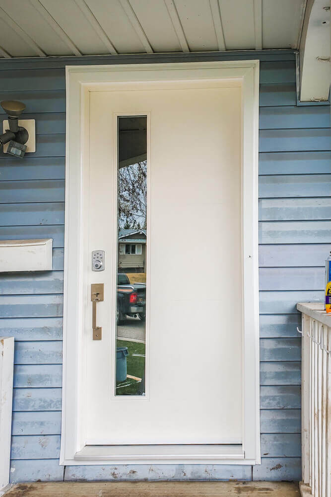 a new door installation by mountain view windows and doors